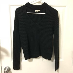 Pacsun black cut out sweater top